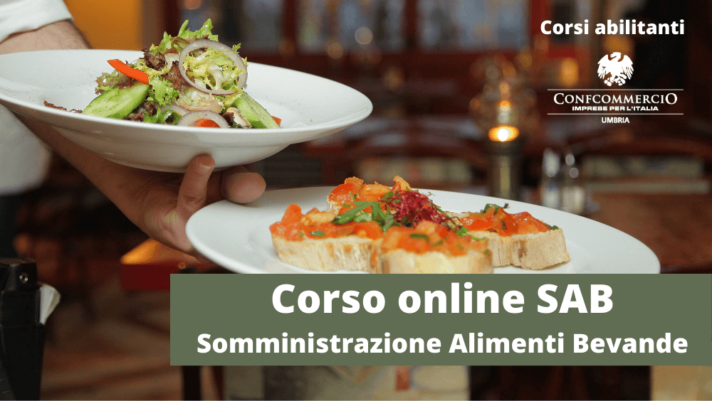 corso SAB online somministrazione alimenti bevande